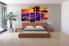bedroom decor, 4 Piece Wall Art, oil canvas arts, scenery multi panel art, sunrise huge wall art