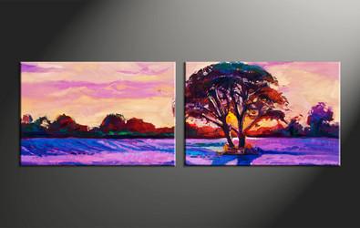 home decor, 2 piece canvas arts, scenery artwork, oil large canvas, landscape pictures