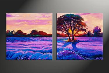 home decor, 2 piece canvas arts, scenery artwork, oil large canvas, landscape large pictures
