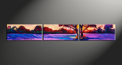home decor, 3 piece canvas arts, scenery artwork, oil large canvas, landscape wall decor