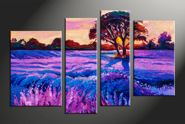home decor, 4 piece canvas arts, scenery artwork, oil large canvas, landscape huge pictures