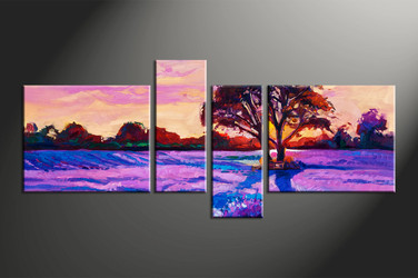 home decor, 4 piece canvas arts, scenery artwork, oil large canvas, landscape wall decor