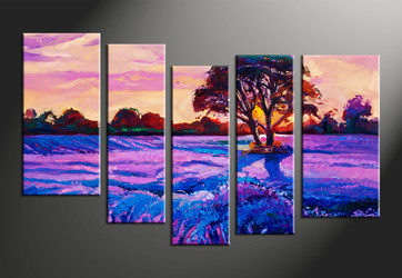 home decor, 5 piece canvas arts, scenery large pictures, oil large canvas, landscape huge pictures