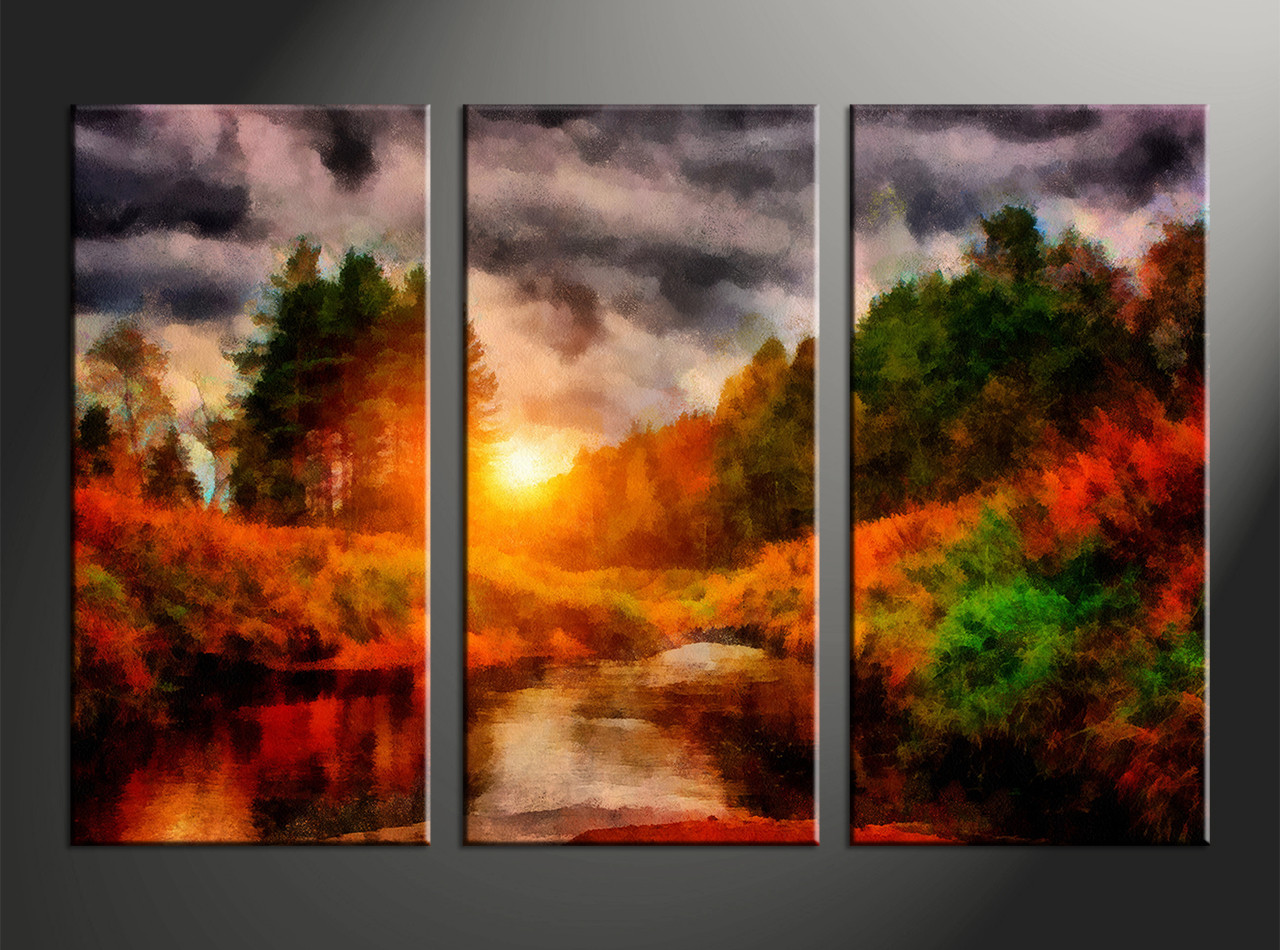 683e572ac home decor, 3 piece canvas arts, scenery canvas arts, oil huge canvas art