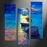 home decor, 3 piece photo canvas, scenery artwork, ocean large canvas, ship wall decor
