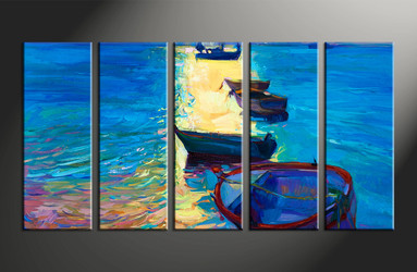 home decor, 5 piece huge pictures, ship canvas print, oil paintings canvas photography, ocean art