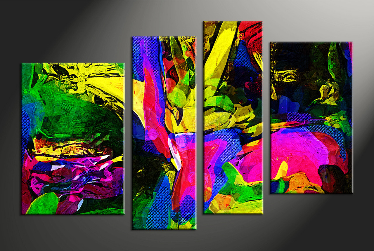 Home decor 4 piece canvas wall art abstract large pictures abstract art