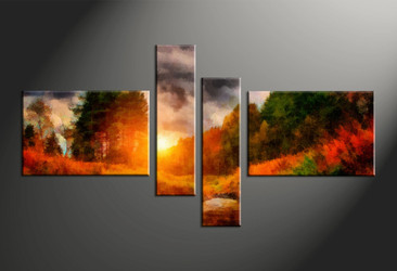 home decor, 4 piece canvas arts, scenery canvas arts, oil huge canvas art, trees canvas wall art