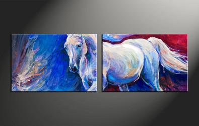 home decor, 2 piece canvas arts, animal canvas arts, wildlife huge canvas art, scenery canvas wall art