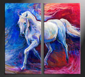 home decor, 2 piece canvas arts, animal canvas arts, wildlife huge canvas art, scenery large pictures
