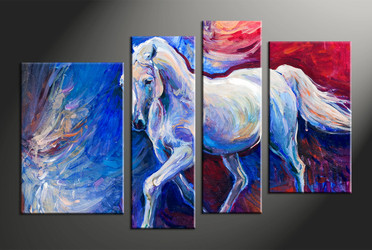 home decor, 4 piece canvas arts, oil canvas arts, wildlife huge canvas art, scenery canvas wall art