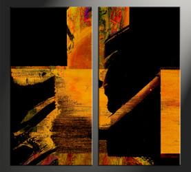 Home Decor, 2 piece canvas wall art, abstract large canvas , abstract artwork, oil large canvas