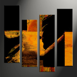 Home Wall Decor, 4 piece canvas wall art, abstract large pictures, oil artwork, abstract wall art