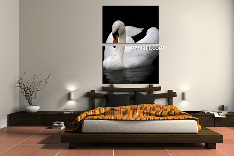 bedroom decor, 2 Piece Wall Art, wildlife canvas arts, duck multi panel art, wild canvas photography