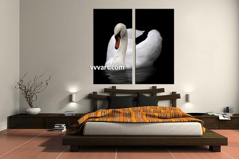 bedroom decor, 2 Piece Wall Art, wildlife canvas arts, duck multi panel art, wild canvas photography