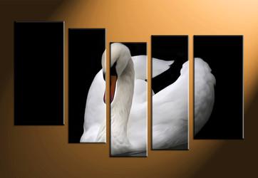 home decor, 5 piece canvas arts, wildlife artwork, wildlife large canvas,black and white artwork
