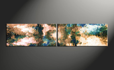 Home Wall Decor, 2 piece canvas wall art, oil large canvas , abstract artwork, abstract large canvas