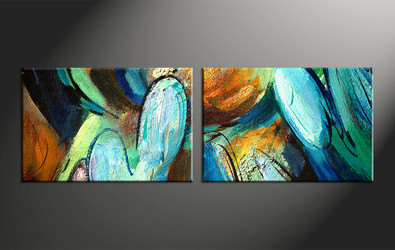 home decor, 2 piece artwork, abstract photo canvas, oil paintings huge canvas art, modern canvas wall art