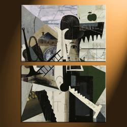 home decor, 2 piece canvas arts, modern artwork, oil large canvas, modern wall decor
