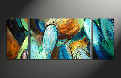 home decor, 3 piece multi panel art, modern artwork, oil paintings large canvas, abstract wall decor