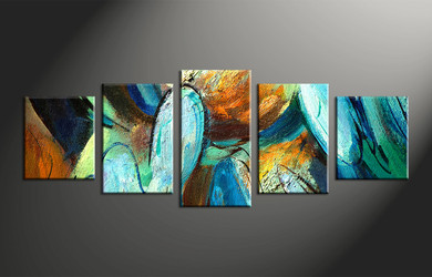 home decor, 5 piece art, abstract wall decor, oil paintings canvas photography, modern art