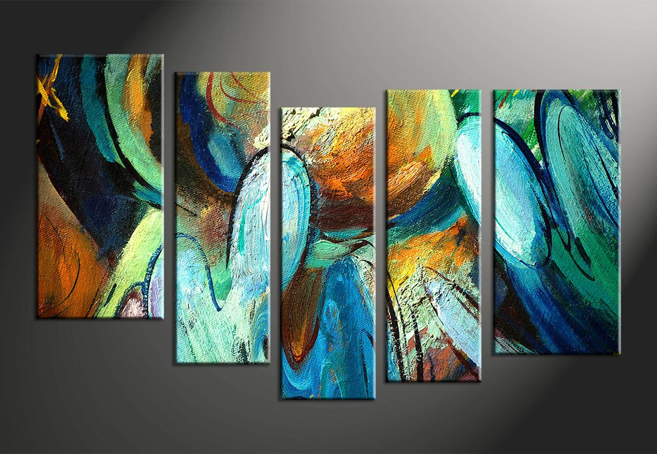 Home decor 5 piece art abstract wall decor abstract canvas photography oil