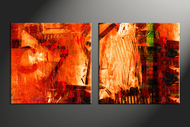 home decor, 2 piece canvas arts, oil canvas arts, Abstract huge canvas art, Abstract wall art