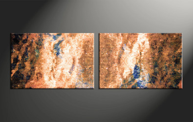 Home Decor, 2 piece canvas wall art, abstract large canvas , oil art, abstract multi panel art