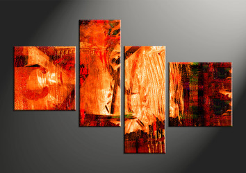 home decor, 4 piece canvas arts, oil canvas arts, Abstract huge canvas art, Abstract multi panel art