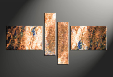 Home Decor, 4 piece canvas wall art, oil paintings multi panel art, abstract large canvas, abstract art