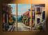 home decor, 3 piece multi panel art, city artwork, city large canvas, city wall decor