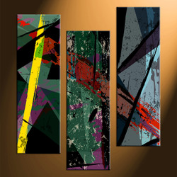 home decor, 3 piece canvas arts, oil paintings artwork, abstract large canvas, abstract wall decor