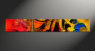 Home Decor, 3 piece canvas wall art, abstract large canvas, abstract artwork, oil paintings large canvas