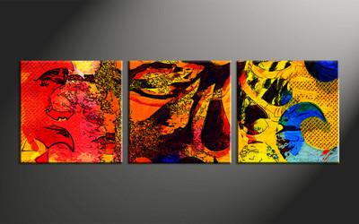 Home Decor, 3 piece canvas wall art, abstract artwork, oil paintings large canvas, abstract wall art