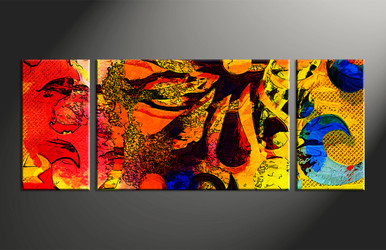 Home Decor, 3 piece canvas wall art, oil Paintings multi panel art, abstract large canvas, abstract art