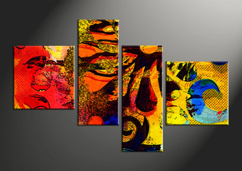 home wall decor, 4 piece canvas wall art, abstract canvas wall art, abstract huge canvas art, oil paintings art