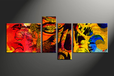 Home Wall Decor, 4 piece canvas wall art, abstract multi panel art, oil paintings photo canvas, abstract art