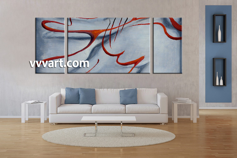 Living Room Art, 3 piece canvas wall art, abstract large pictures, abstract pictures, oil painting multi panel art