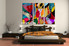 Bedroom Large Pictures, 3 Piece Wall Art, abstract large canvas , oil paintings pictures, abstract canvas photography