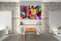 Dining Room Art, 3 piece canvas wall art, abstract multi panel art, oil paintings canvas wall art, abstract canvas wall art