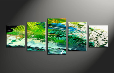 Home Decor, 5 piece canvas wall art, oil paintings pictures, abstract artwork, abstract large canvas