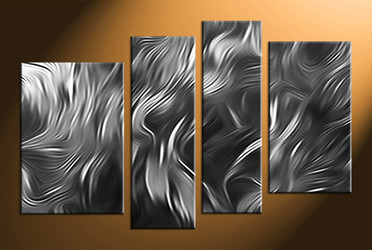 Home Wall Decor, 4 piece canvas wall art, abstract canvas photography, black and white multi panel canvas, abstract wall art