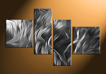 Home Decor, 4 piece canvas wall art, abstract canvas wall art, black and white group canvas, abstract pictures