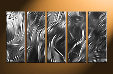 Home Decor, 5 piece canvas wall art, abstract huge pictures, abstract large canvas, black and white canvas wall art