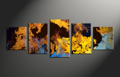 Home Decor, 5 piece canvas wall art, abstract large pictures, oil paintings photo canvas, abstract large canvas