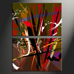 Home Wall Decor, 2 piece canvas wall art, oil paintings pictures, abstract art, abstract huge pictures
