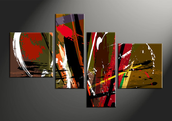Home Decor, 4 piece canvas wall art, abstract group canvas, oil paintings canvas wall art, abstract artwork