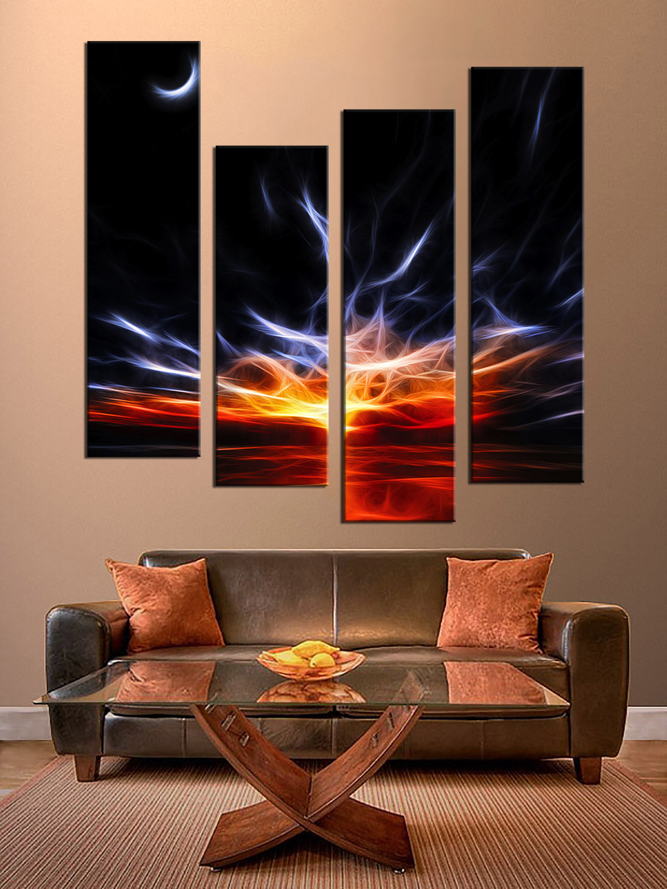 Exceptional Living Room Wall Decor, 4 Piece Canvas Wall Art, Oil Paintings Huge  Pictures,