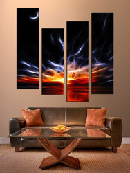 Living Room Wall Decor, 4 piece canvas wall art, oil paintings huge pictures, abstract wall art, abstract artwork