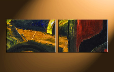 home Artwork, 2 piece canvas wall art, abstract large pictures, oil paintings art, abstract wall art